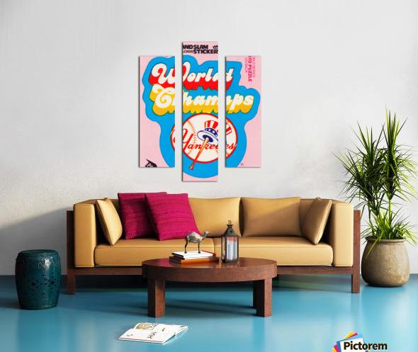 1979 fleer sticker new york yankees world champs poster Canvas print