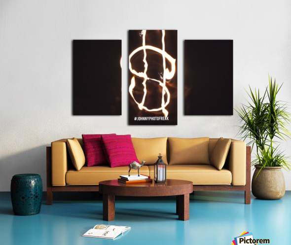 Money light painting fire Canvas print