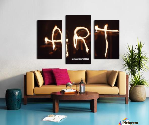 Fire Art Canvas print