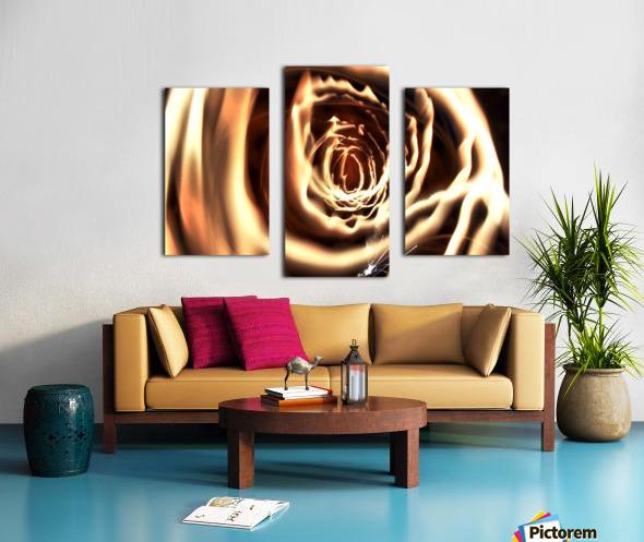 Fire tunnel Canvas print