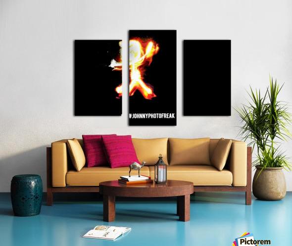 Fire Stickman Canvas print