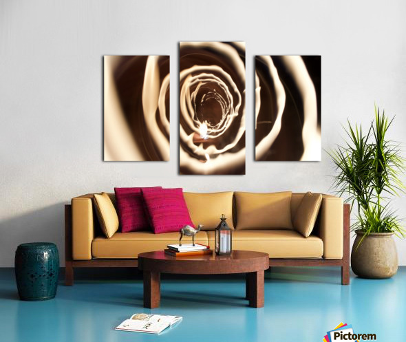 Fire tunnel 2 Canvas print