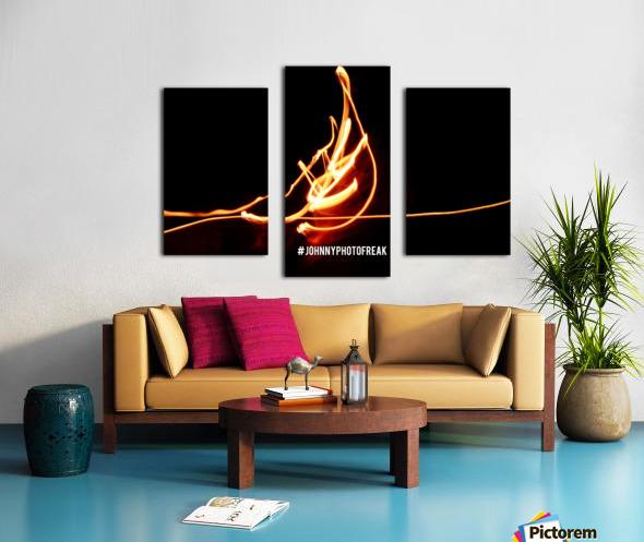 Fire leaf Canvas print