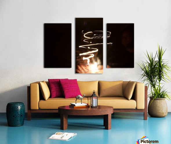 Fire twisted  Canvas print