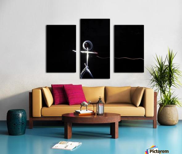 light stick man Canvas print