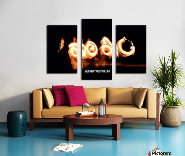 2020 Fire light painting Canvas print