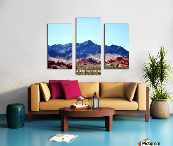 Canyon and mountain  Canvas print