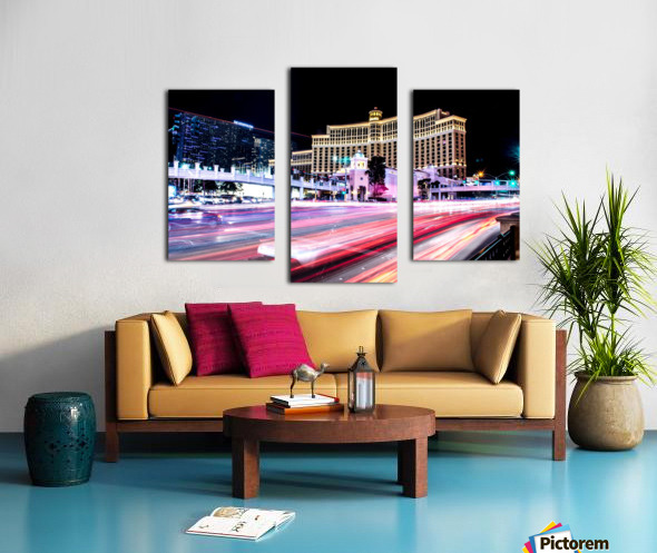 Las vegas night shot Canvas print