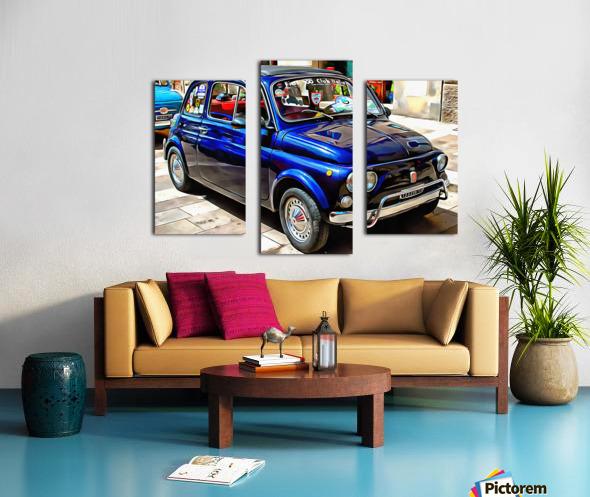 Fiat 500 Dark Blue Version Canvas print