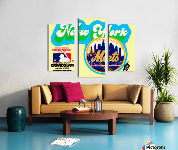1979 fleer hi gloss sticker new york mets wall art Canvas print