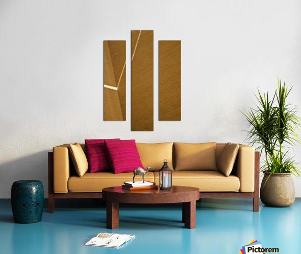 Bending Light on Brick Canvas print