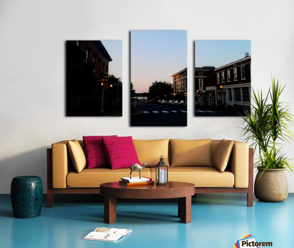 Corner of Pleasant Canvas print