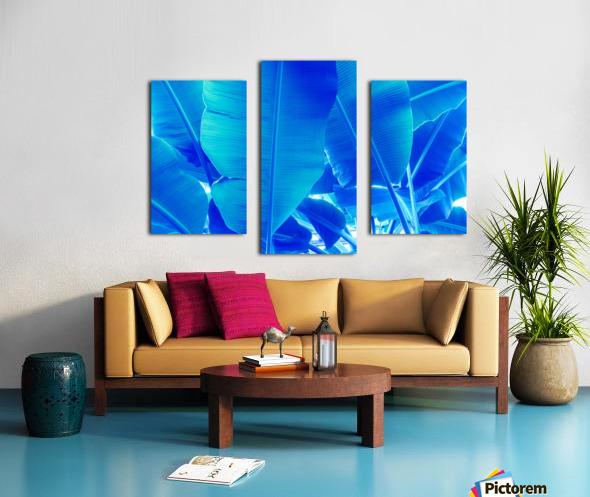 Blue Bananas - Re-Imagined Tropical Biophilia Canvas print