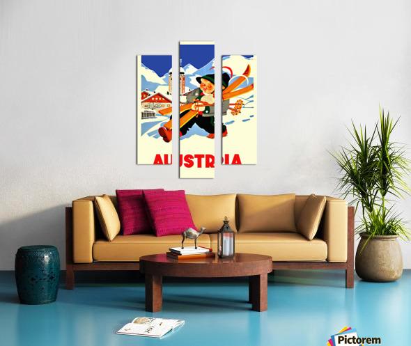 Little Skier from Austria Canvas print