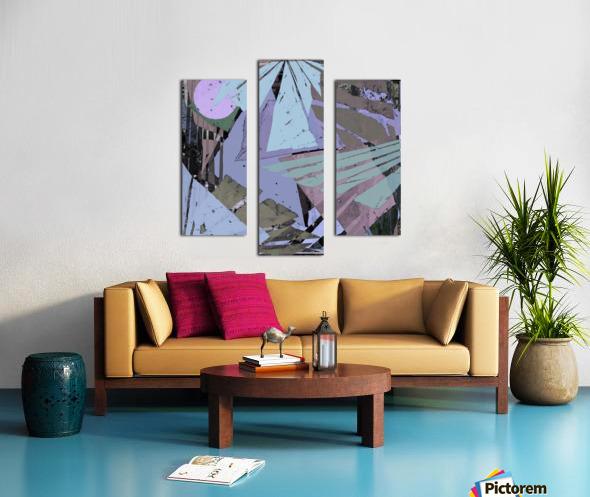 Broken window pane Canvas print