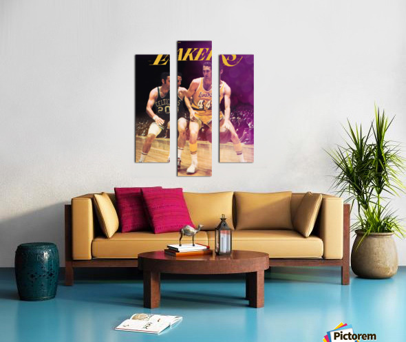 1969 los angeles la lakers jerry west poster Canvas print