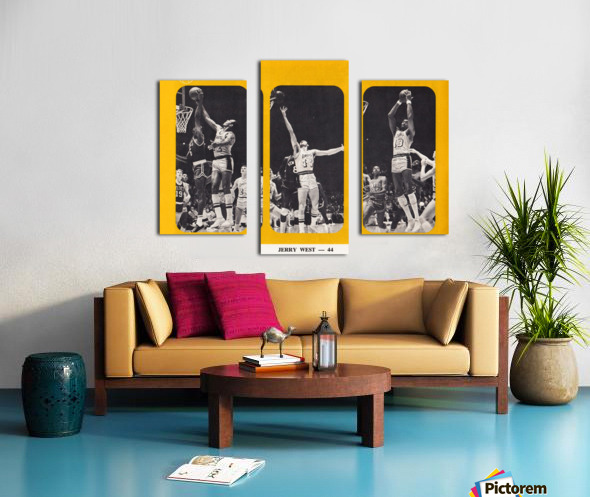 1968 los angeles lakers poster Canvas print