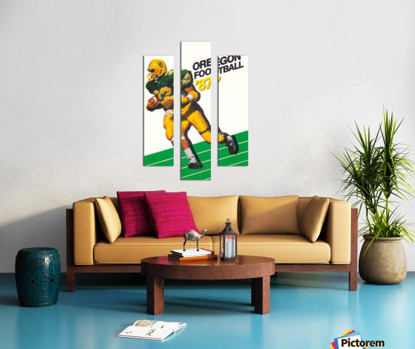 1987 oregon ducks retro football poster Canvas print