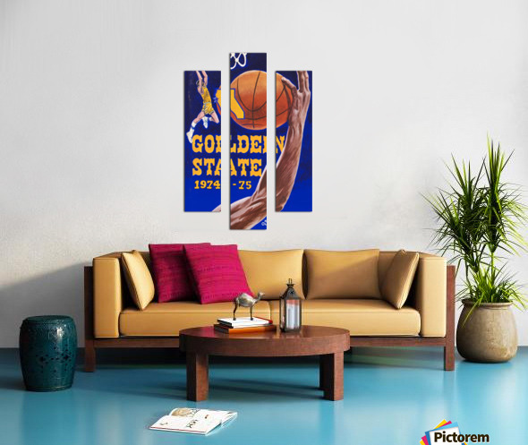 1974 golden state warriors basketball art murray olderman artist Canvas print