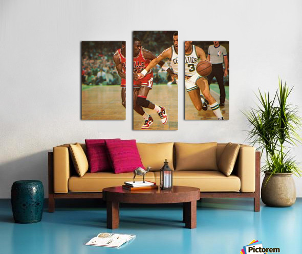 1985 Dennis Johnson vs. Michael Jordan Canvas print