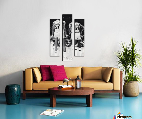 1984 la lakers magic johnson kareem abdul jabbar art Canvas print