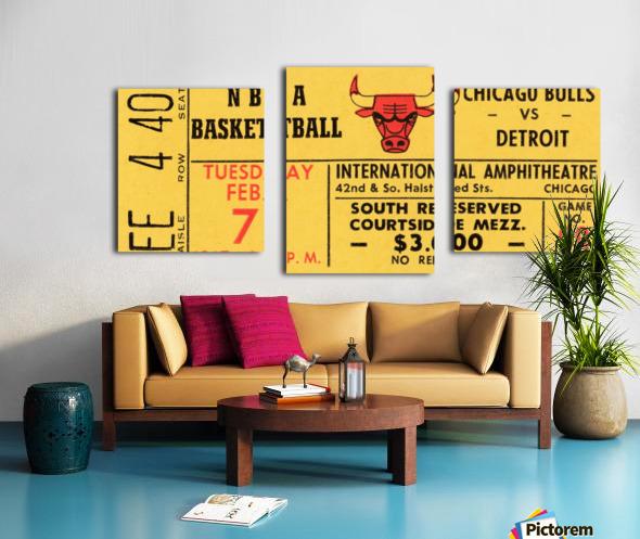 1967 Chicago Bulls 1st Season Ticket Art Canvas print