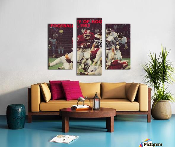 1983 houston cougars football Canvas print