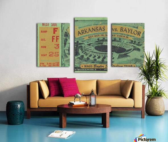 1953 arkansas baylor football ticket wall art Canvas print