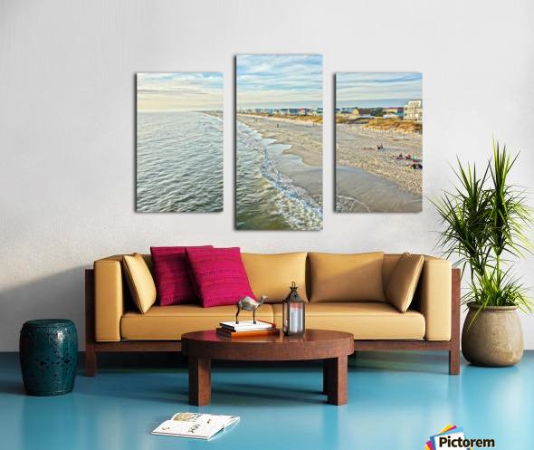 Oak Island Pier View2  Canvas print