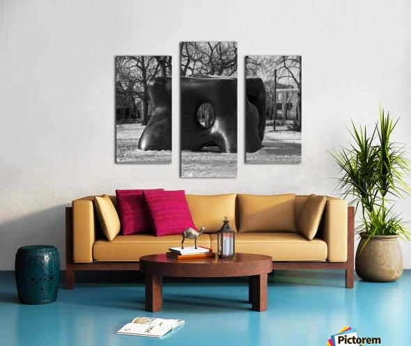 Two Large Forms at Grange Park 1 Canvas print
