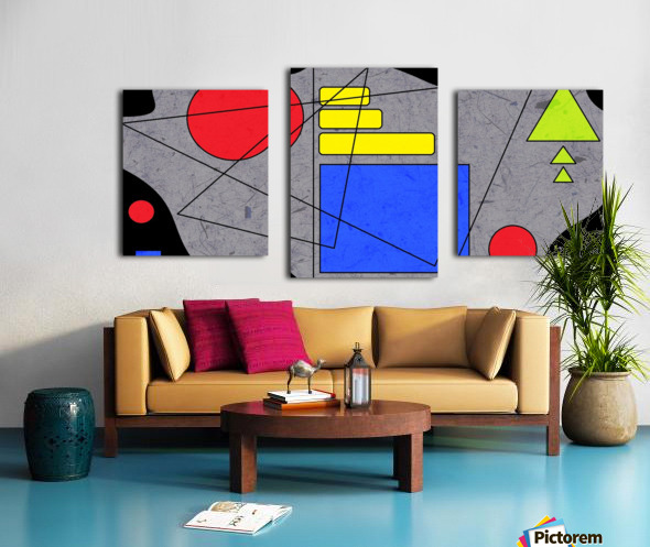 Simple Shapes V Canvas print