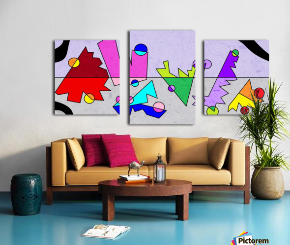 Simple Shapes VI Canvas print