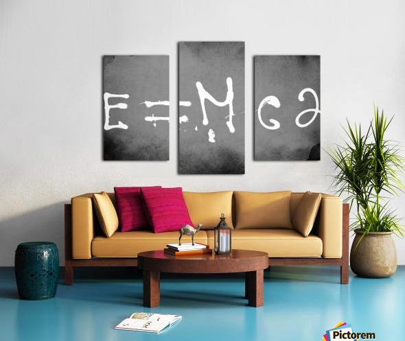 E=mc2 Canvas print