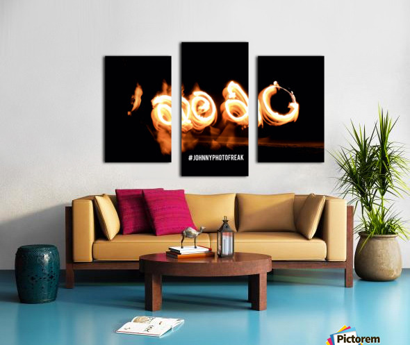 2020 IN FIRE fire painting  Canvas print