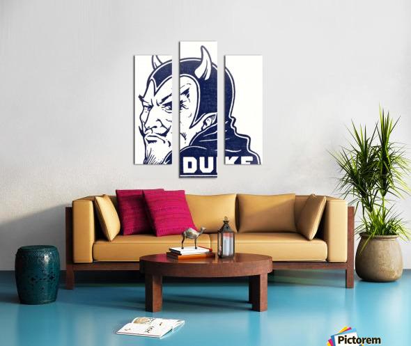 1950s duke university blue devil college art Canvas print