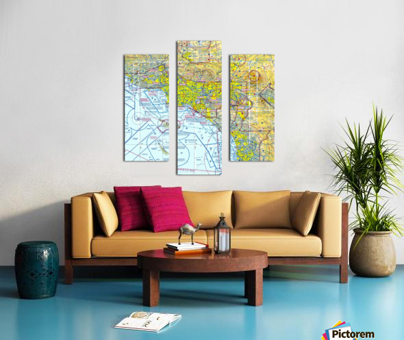 LA & San Diego Aeronautical Wall Art Canvas print
