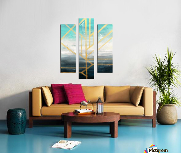 Art deco geometric II Canvas print