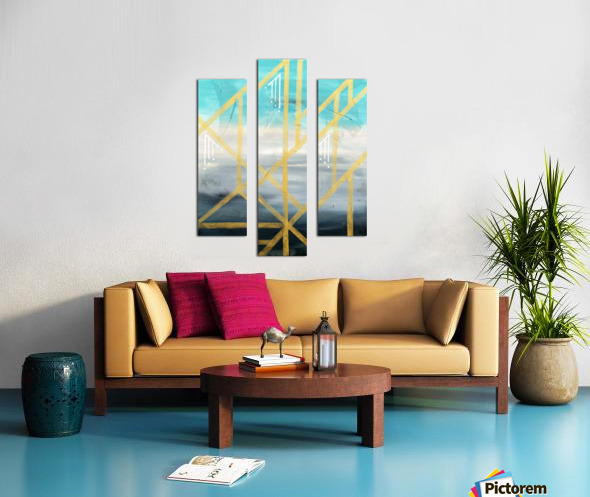 Art deco geometric III Canvas print