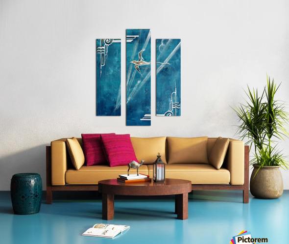 Art deco Swallow  Canvas print