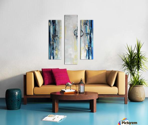 Art deco Moonshine V Canvas print