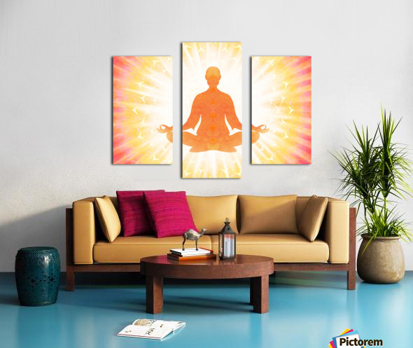 In Meditation - Be The Light Canvas print
