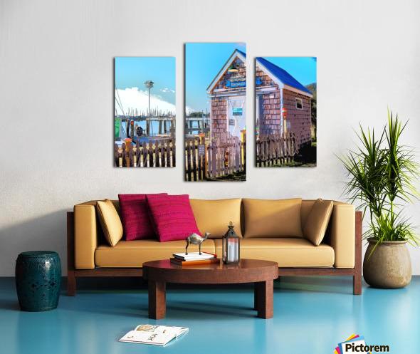 Yacht Basin boathouse Canvas print