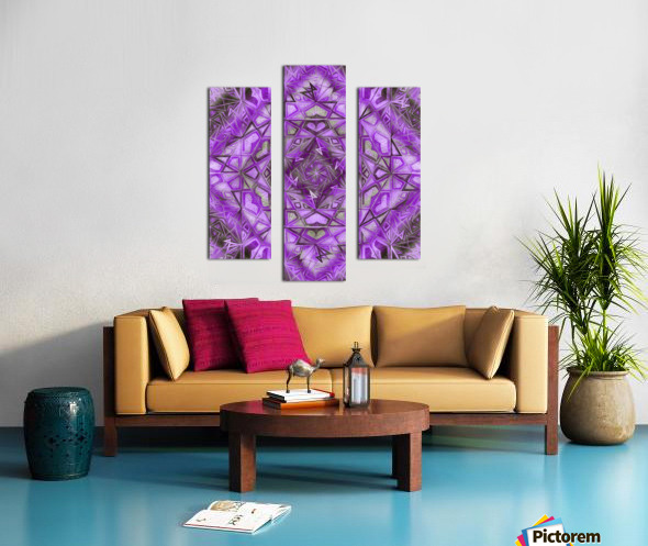 Purple Fractal Kaleidoscope Handdrawing Canvas print