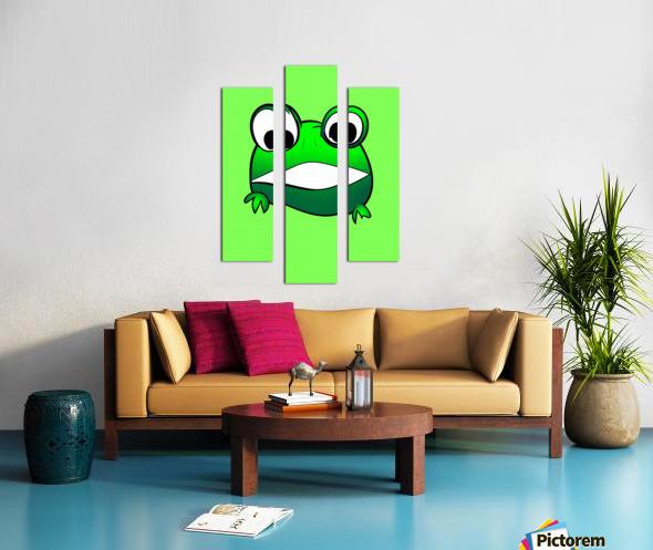 cute little frog Canvas print