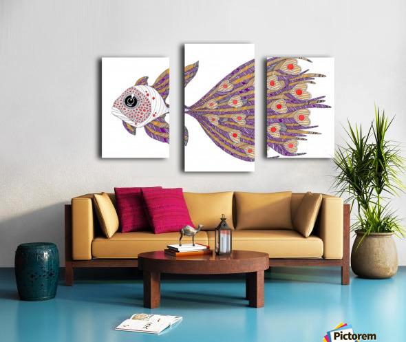 heart fish Canvas print