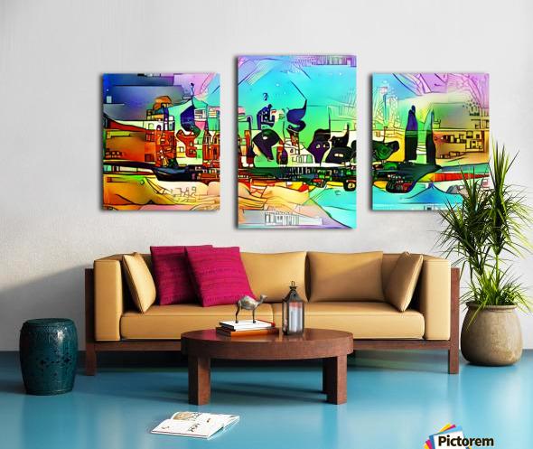 city5 ship Canvas print