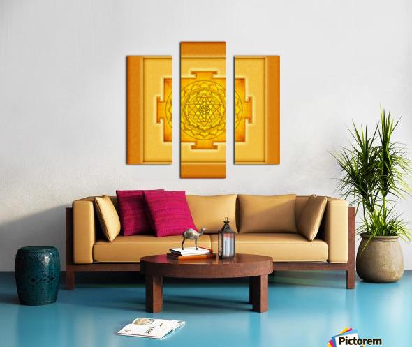 Golden Sri Yantra III Canvas print