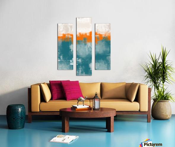 Blue Gray Orange Abstract DAP 20014 Canvas print
