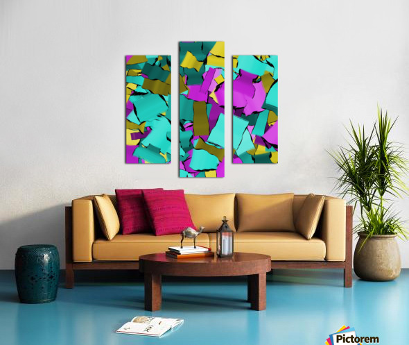 abstract flow art Canvas print