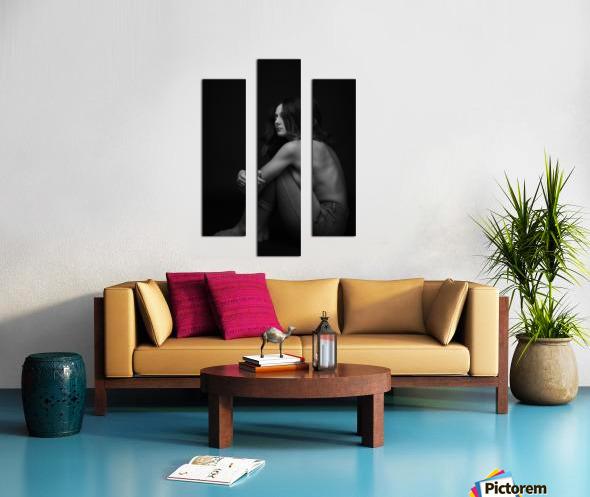Black and White Woman Portrait 1 Canvas print
